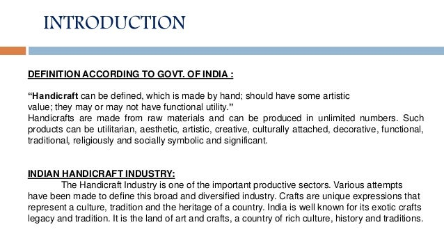 Trend Analysis And Problems Solutions Of Export Of Indian Handicraf