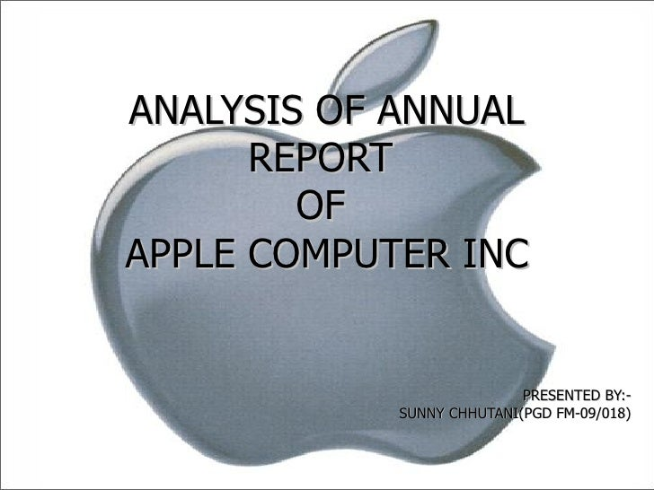 apple company annual report