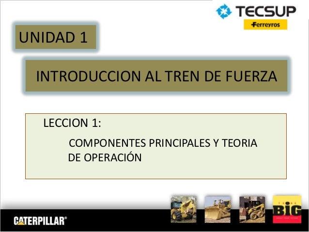 INTRODUCCION AL TREN DE FUERZA LECCION 1: COMPONENTES PRINCIPALES Y TEORIA DE OPERACIÓN UNIDAD 1