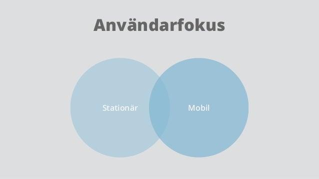 Användarfokus Stationär Mobil