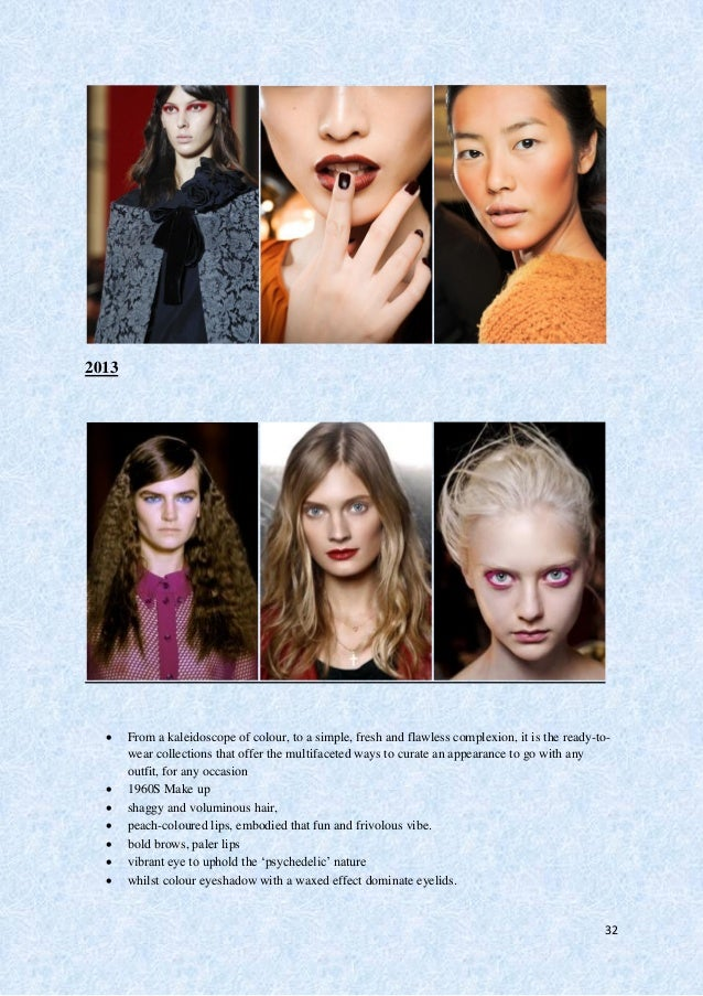 33  Strong Twiggy-esque mega-eyelashes were paired with ruby red lips to pronounce all the features on the face.  Dior's...