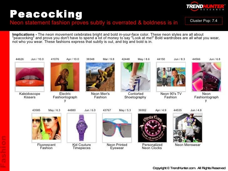 Peacocking Neon statement fashion proves subtly is overrated & boldness is in : : : : : : : : : Fluorescent Fashion Kid Co...