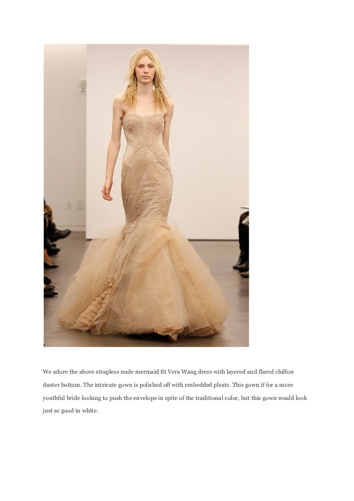 2 We Adore The Above Strapless Nude Mermaid Fit Vera Wang Dress