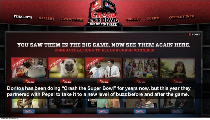 """Doritos has been doing """"Crash the Super Bowl"""" for years now, but this year they          partnered with Pepsi to take it t..."""