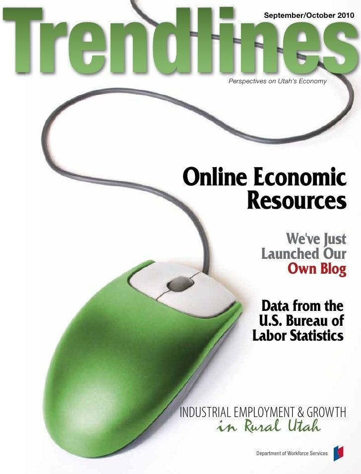 September/October 2010             Perspectives on Utah's Economy     Online Economic       Resources                     ...
