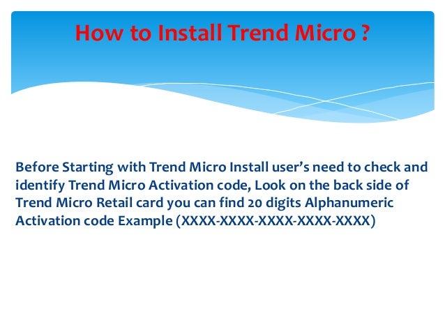 Trend micro activation code
