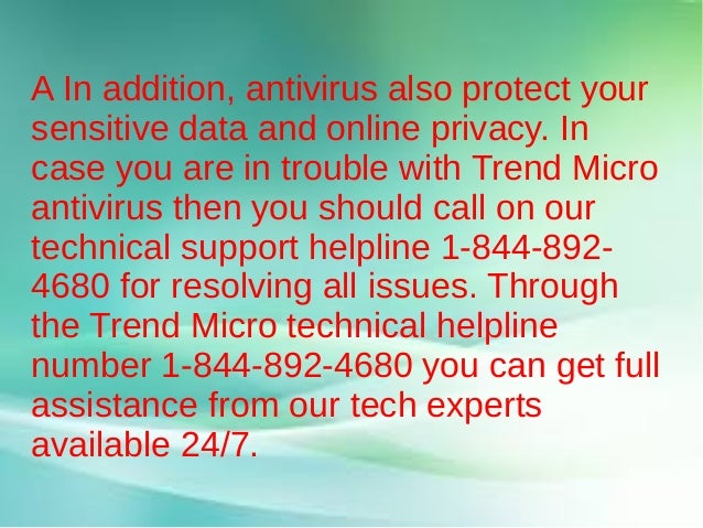 Trend Micro Antivirus Customer Support Service