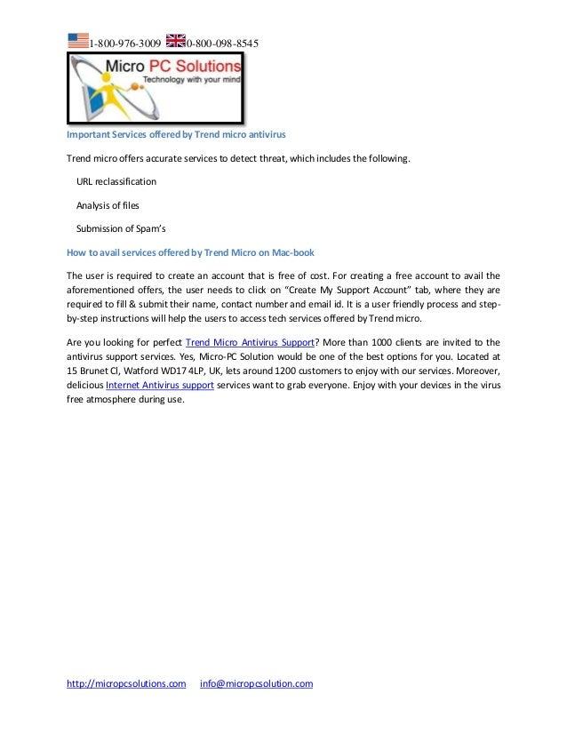 Call 1-800-976-3009 for Trend Micro Titanium Internet Security