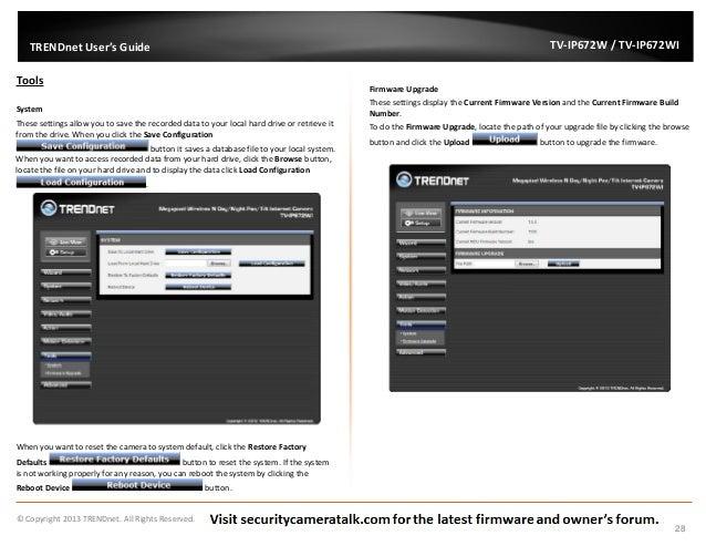 TRENDnet TV-IP672WI English User Manual