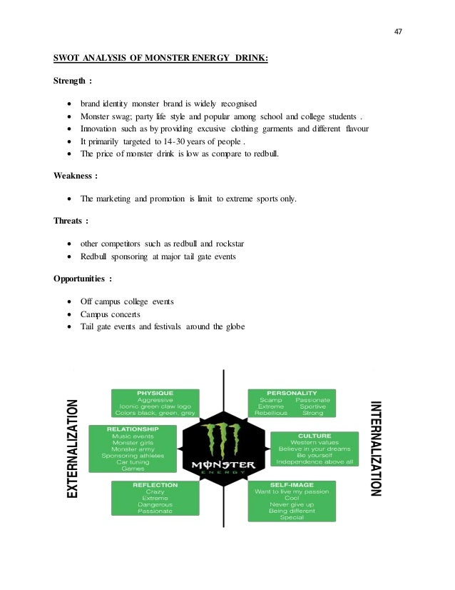 energy drinks customer analysis How to effectively market monster energy drink by following their mission of using little to no mass marketing from my marketing communications class at india.