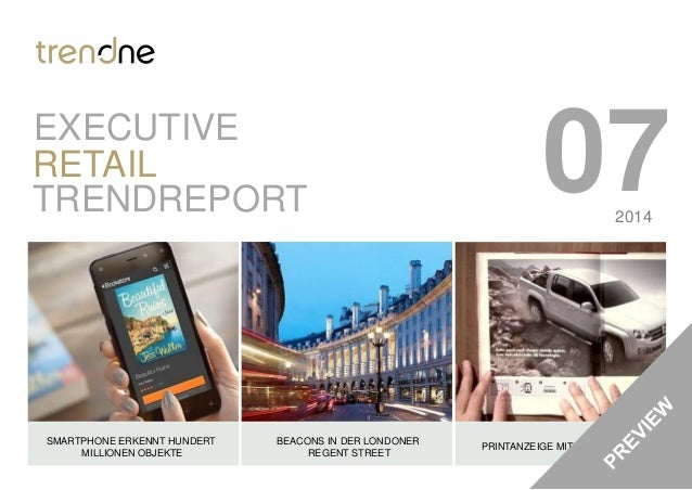 07TRENDREPORT RETAIL SMARTPHONE ERKENNT HUNDERT MILLIONEN OBJEKTE BEACONS IN DER LONDONER REGENT STREET PRINTANZEIGE MIT W...