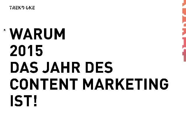 Content Marketing Marktanalyse 2015