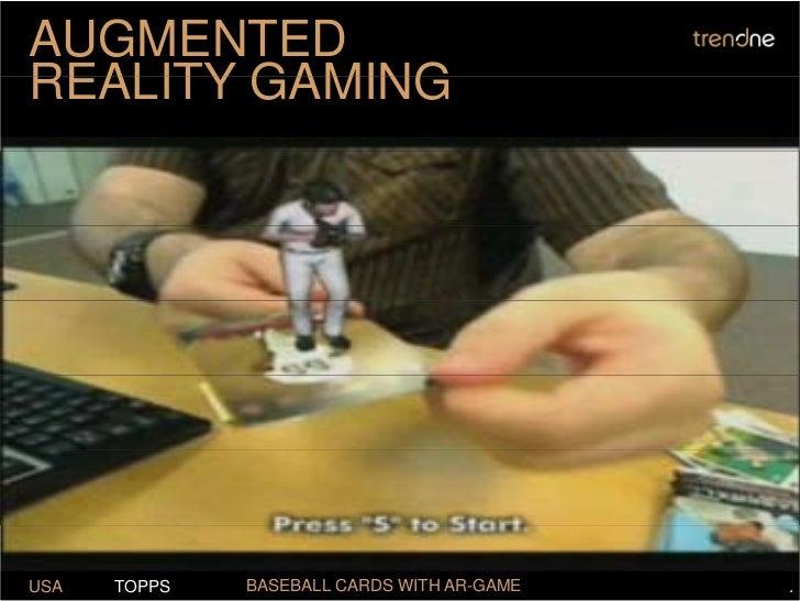 AUGMENTED REALITY GAMING     USA   TOPPS   BASEBALL CARDS WITH AR-GAME   .
