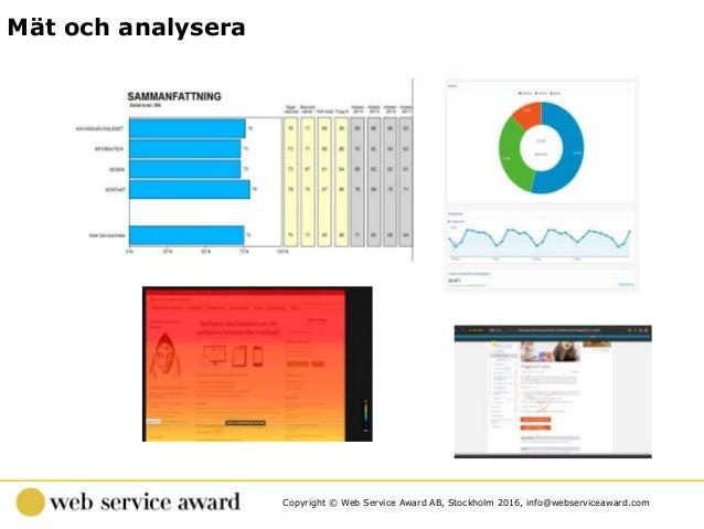 Copyright © Web Service Award AB, Stockholm 2016, info@webserviceaward.com Mät och analysera