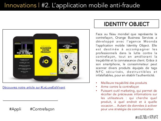 Innovations | #2. L'application mobile anti-fraude Face au fléau mondial que représente la contrefaçon, Orange Business Se...