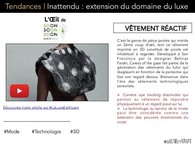 Tendances | Inattendu : extension du domaine du luxe C'est le genre de pièce portée qui mérite un 2ème coup d'œil, tant ce...