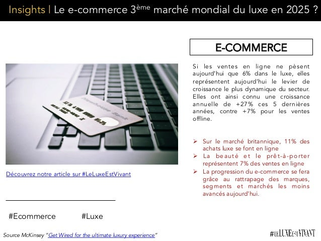 Insights | Le e-commerce 3ème marché mondial du luxe en 2025 ? #Ecommerce #Luxe Si les ventes en ligne ne pèsent aujourd'h...