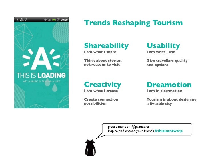 Trends Reshaping TourismShareability                       UsabilityI am what I share                  I am what I useThin...