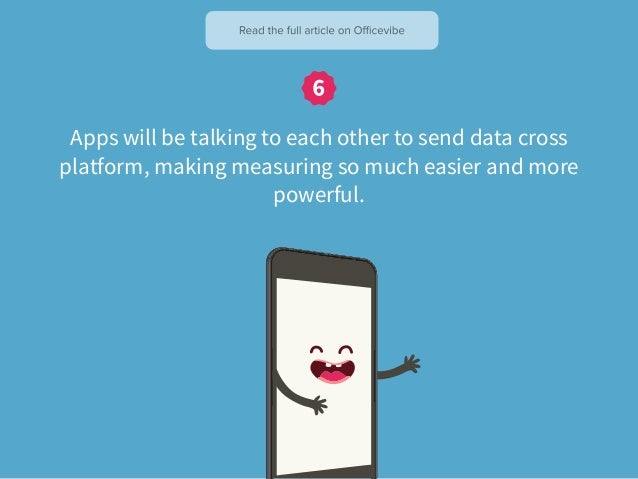 Apps will be talking to each other to send data cross platform, making measuring so much easier and more powerful.