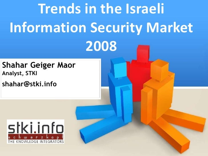 Trends in the Israeli   Information Security Market               2008 Shahar Geiger Maor Analyst, STKI shahar@stki.info