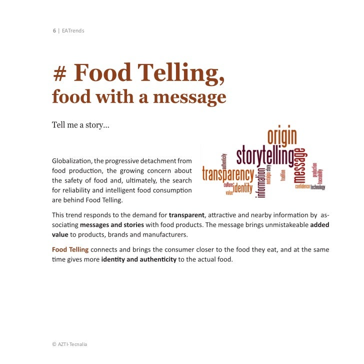 New Food Trends 2020 EATrends: Food consumption in Europe towards 2020, in eight trends