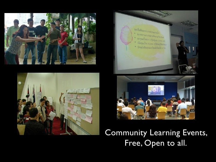 Community Learning Events,    Free, Open to all.