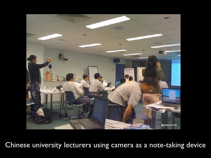 Chinese university lecturers using camera as a note-taking device
