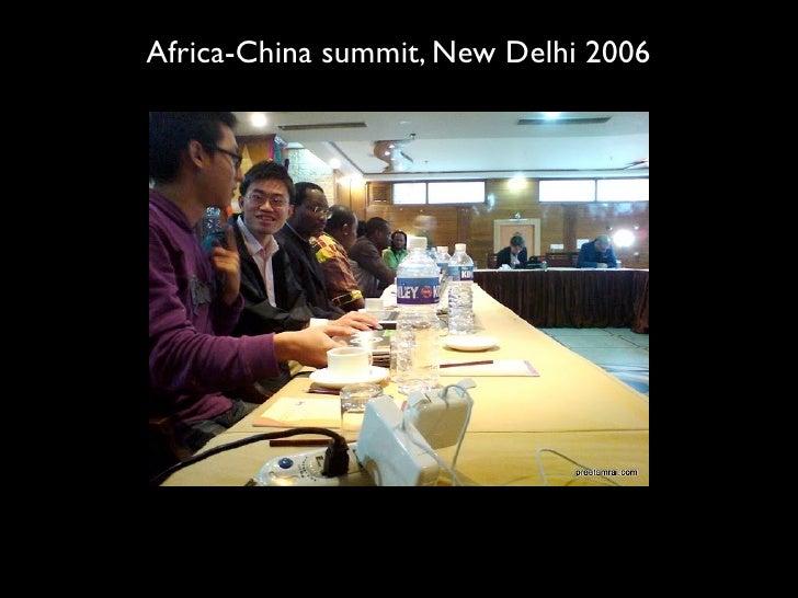 Africa-China summit, New Delhi 2006