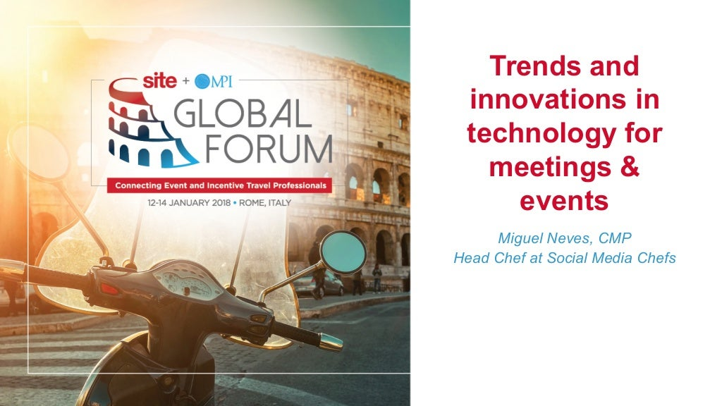 Trends and innovations in technology for meetings and events