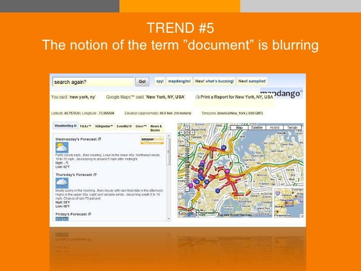 """TREND #5       The notion of the term """"document"""" is blurring     © Acando AB"""