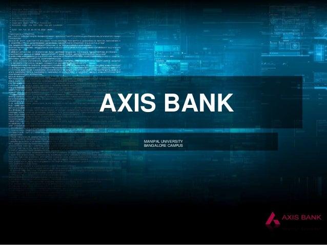 AXIS BANK MANIPAL UNIVERSITY BANGALORE CAMPUS