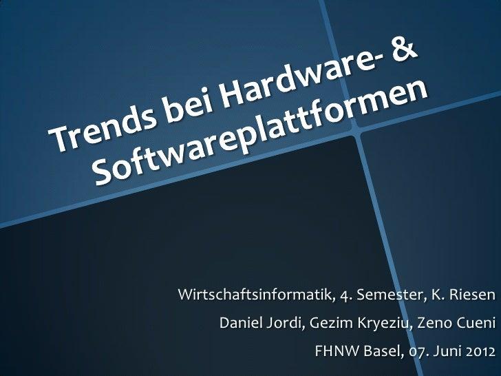 Wirtschaftsinformatik, 4. Semester, K. Riesen     Daniel Jordi, Gezim Kryeziu, Zeno Cueni                   FHNW Basel, 07...