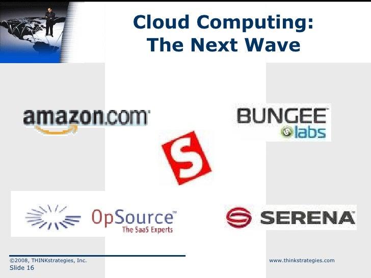 Cloud Computing: The Next Wave ©2008, THINKstrategies, Inc.  www.thinkstrategies.com Slide