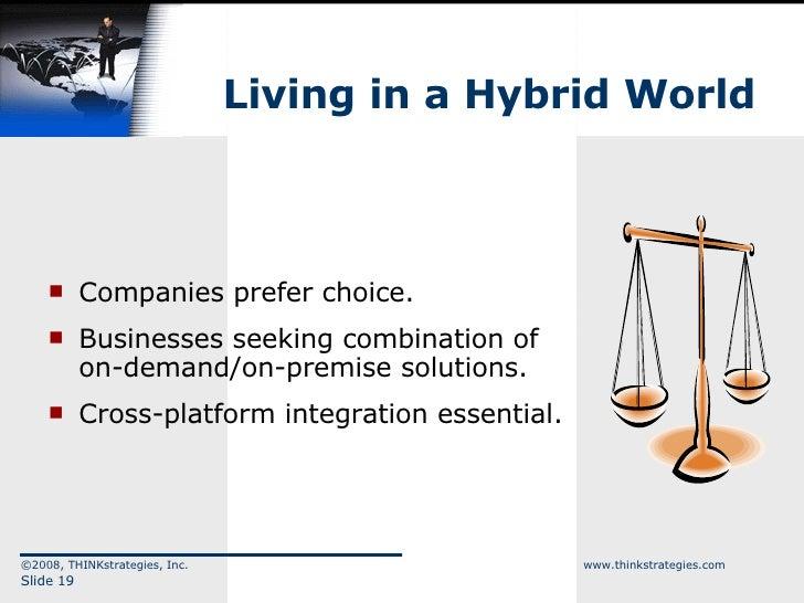 Living in a Hybrid World <ul><li>Companies prefer choice. </li></ul><ul><li>Businesses seeking combination of on-demand/on...
