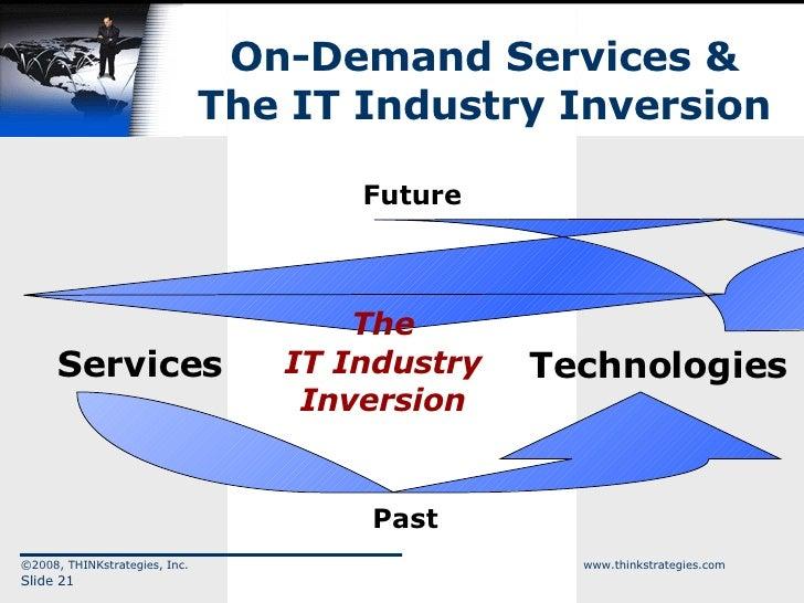 On-Demand Services & The IT Industry Inversion ©2008, THINKstrategies, Inc.  www.thinkstrategies.com Slide  Services Techn...