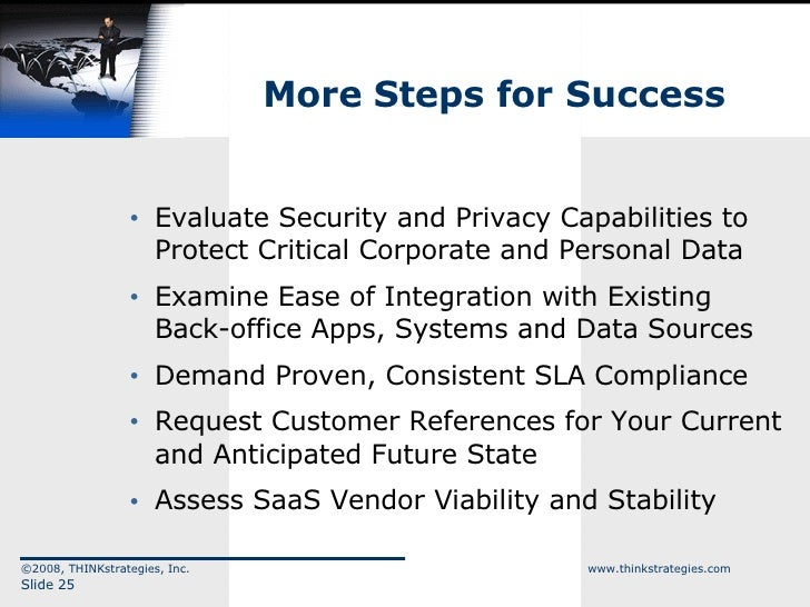 More Steps for Success <ul><ul><li>Evaluate Security and Privacy Capabilities to Protect Critical Corporate and Personal D...