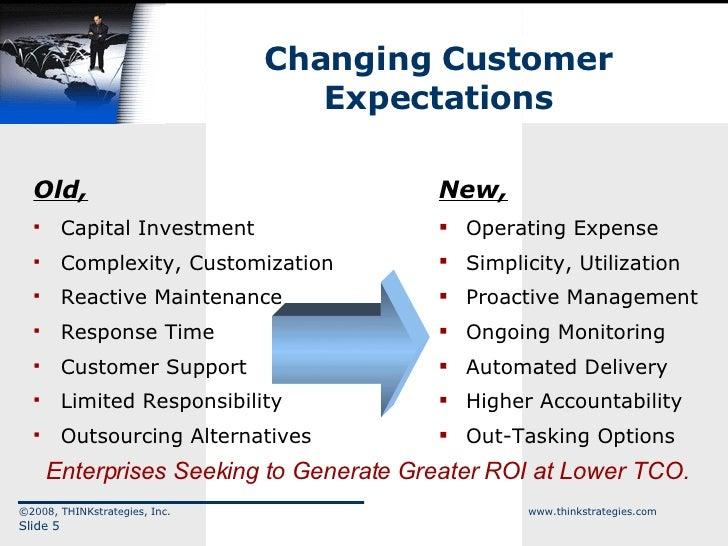 Changing Customer Expectations <ul><li>Old, </li></ul><ul><li>Capital Investment </li></ul><ul><li>Complexity, Customizati...