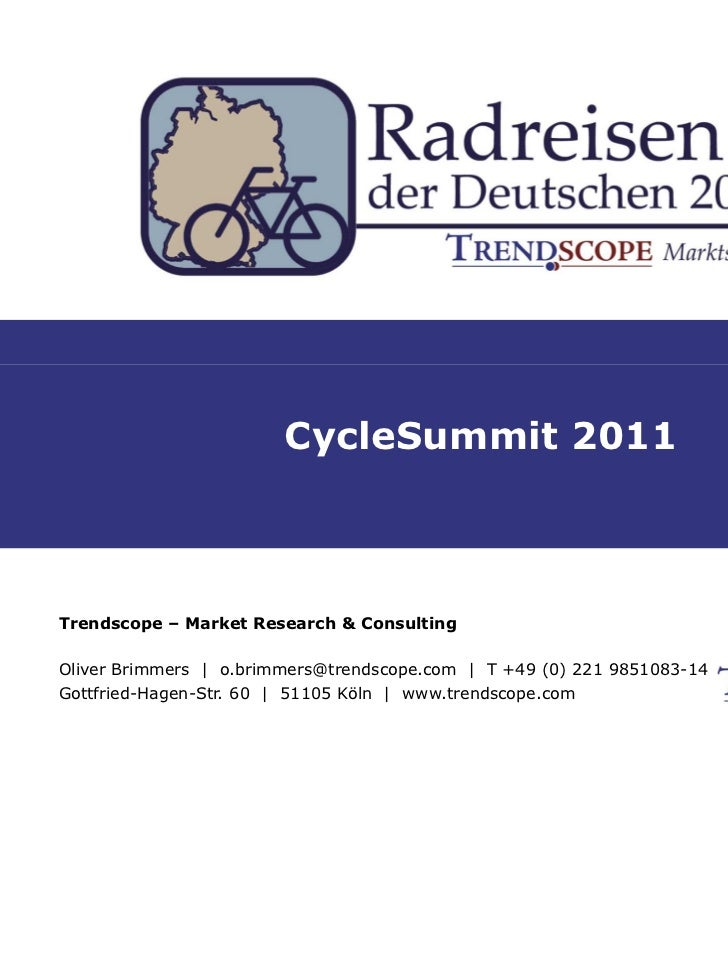 Bicycle Tourism of Germans in 2010