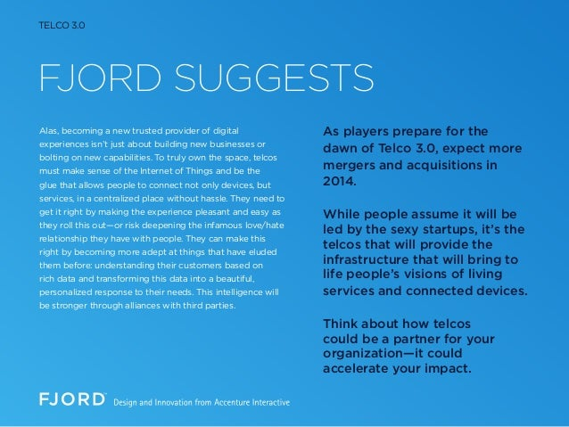 FJORD SUGGESTS Alas, becoming a new trusted provider of digital experiences isn't just about building new businesses or bo...