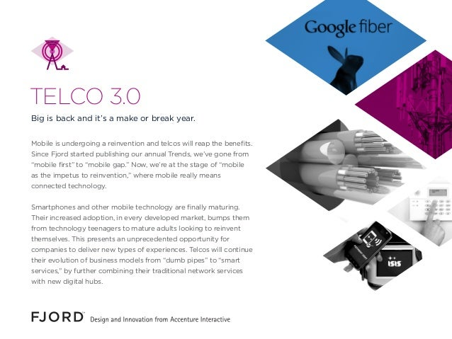 Mobile is undergoing a reinvention and telcos will reap the benefits. Since Fjord started publishing our annual Trends, we...
