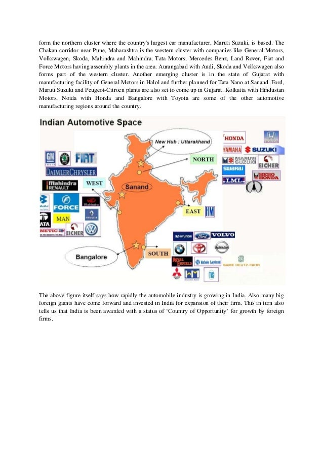 Trends In Automobile Industry In India