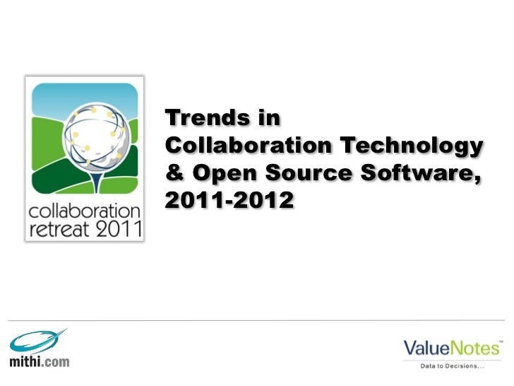 Trends inCollaboration Technology& Open Source Software,2011-2012