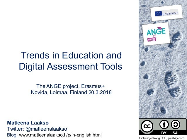 4bffc01e9cc Trends in Education and Digital Assessment Tools The ANGE project, Erasmus+  Novida, Loimaa, ...