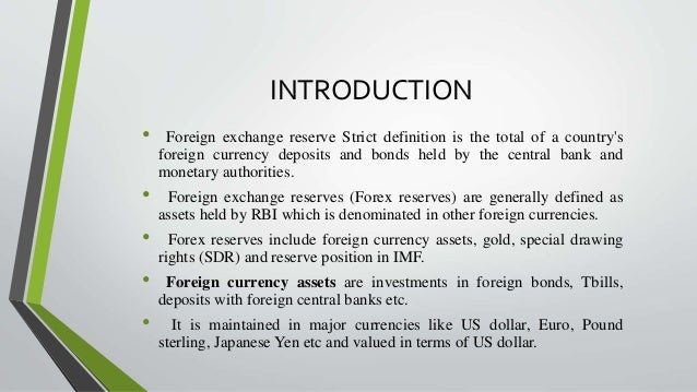 Foreign exchange reserves - Wikipedia