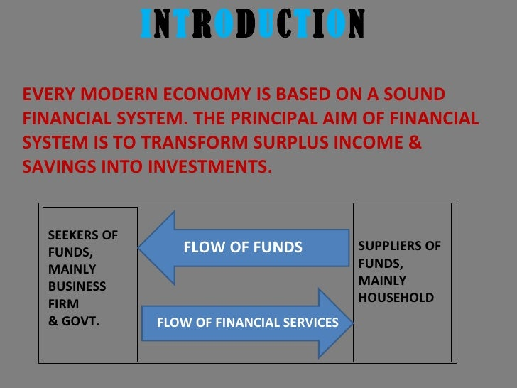 Trends in indian financial system