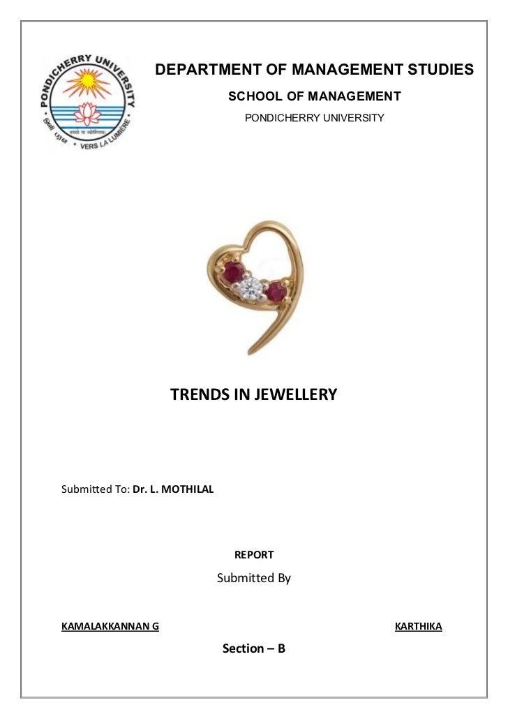 DEPARTMENT OF MANAGEMENT STUDIES                                  SCHOOL OF MANAGEMENT                                    ...