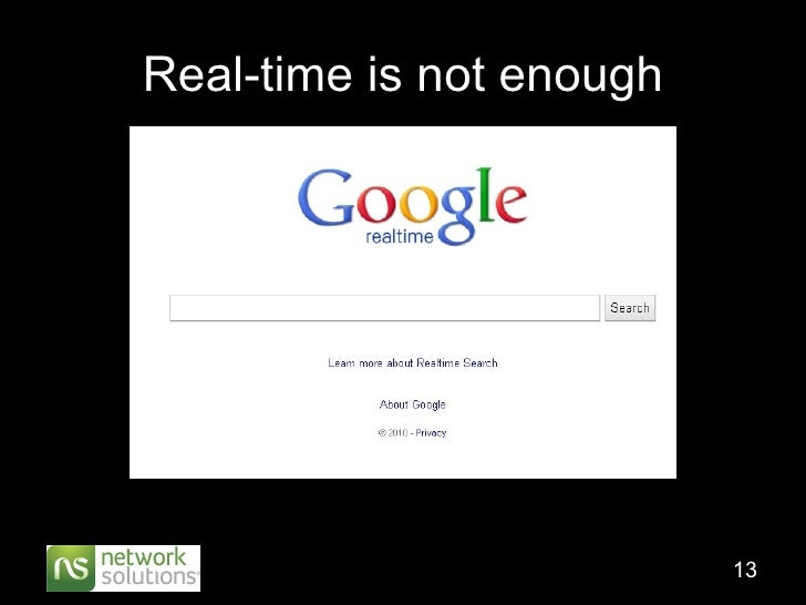 Real-time is not enough