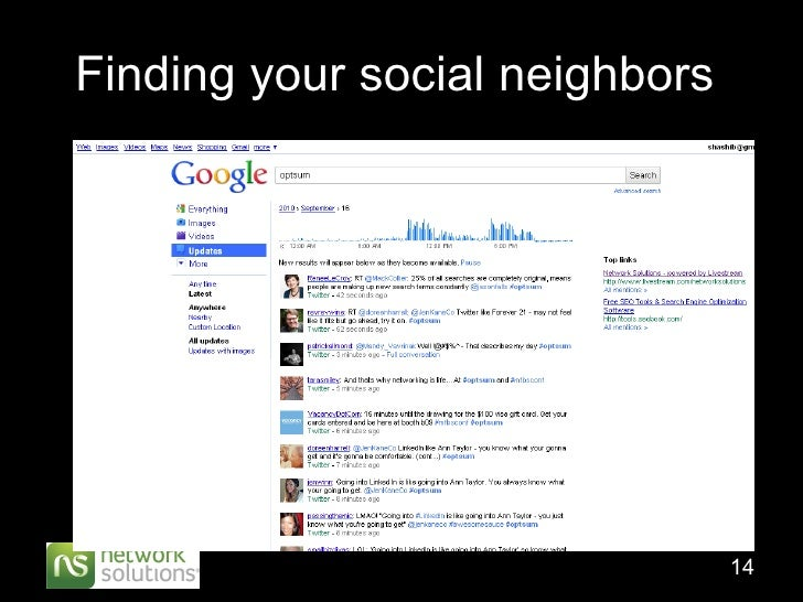 Finding your social neighbors
