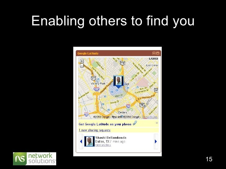 Enabling others to find you