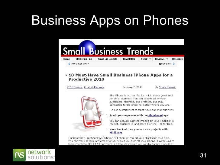 Business Apps on Phones